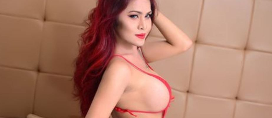 red headed beautiful busty shemale