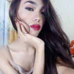 beautiful Asian ts girl posing selfie