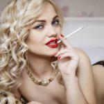 blonde trans girl smoking on live cam